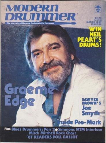 Modern Drummer Magazine (March 1987) (Graeme Edge - Sawyer Brown's Joe Smyth - Inside Pro-Mark)