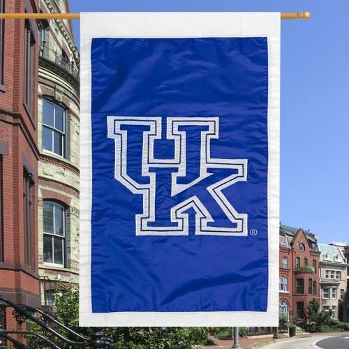 NCAA Kentucky Wildcats Royal Blue 28'' x 44'' Team Logo Applique Flag