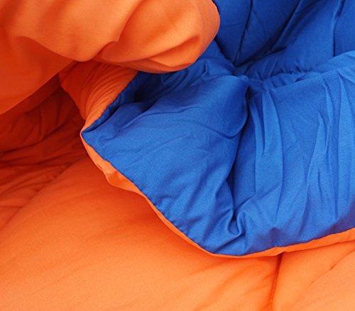 Orange/Blue Reversible Comforter - Twin XL Twin Extra Long