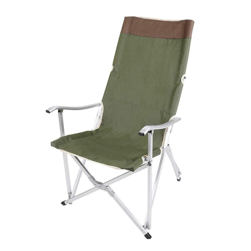 LITING_Wang Sgabello Pieghevole Sgabello per Esterno Ricreazione Vacanza Camping accompagnamento Barbecue (colore   verde)