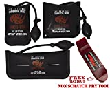 The Original Rhino Strong Commercial Grade Air Wedge Bag Pump Professional Leveling Kit & Alignment Tool Inflatable Shim Bag 3 Piece (Small, Medium, Large). 3 sizes for all of your individual needs.