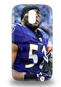 New Snap On Galaxy Skin 3D PC Case Cover Compatible With Galaxy S4 NFL Baltimore Ravens Ray Lewis #52 ( Custom Picture iPhone 6, iPhone 6 PLUS, iPhone 5, iPhone 5S, iPhone 5C, iPhone 4, iPhone 4S,Galaxy S6,Galaxy S5,Galaxy S4,Galaxy S3,Note 3,iPad Mini-Mini 2,iPad Air )