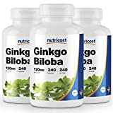 Nutricost Ginkgo Biloba 120mg; 240 Capsules (3 Bottles)
