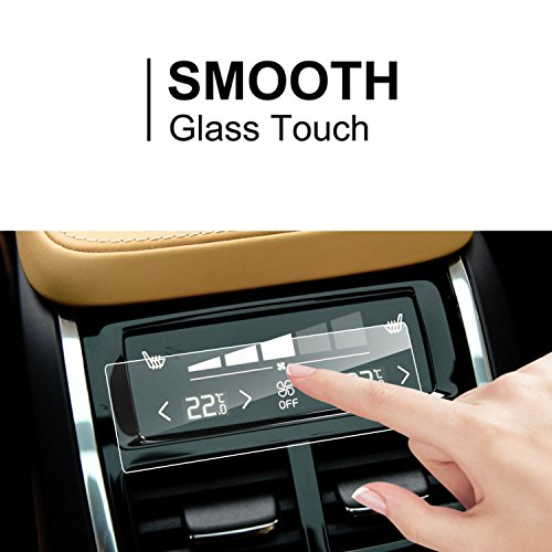 LFOTPP Volvo XC60 V90 XC90 2016 2017 Rear Climate Display Control Touch Screen Protector, [1 Pack] Clear Tempered Glass Screen Protector Against Scratch High Clarity