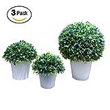 Vaughenda 3 Pack Artificial Plants Fake Plants Simulation Plastic Bonsai Artificial Bonsai Tree for Office, Shop, Home Decor
