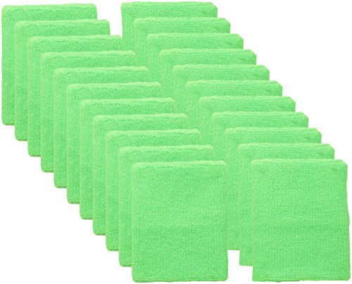Mallofusa 12 Pair Wrist Sweatband / Wristband for Men & Women - Moisture Wicking Athletic Cotton Terry Cloth Sweatband for Tennis, Basketball, Running, Gym, Working Out