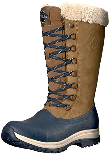 Muck Boot Womens Apres Lace Tall (13) Work Boot Otter/Total Eclipse