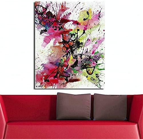 抽象ライン絵画キャンバスに現代の壁写真用リビングルーム家の装飾油絵50×70センチなしフレーム