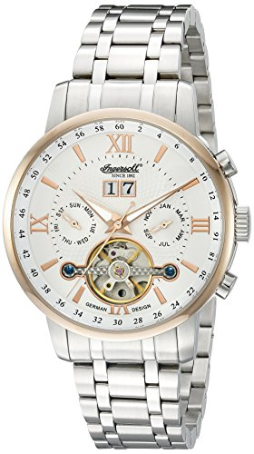 Ingersoll Men's IN6900RWHMB Grand Canyon IV Analog Display Automatic Self Wind Silver Watch