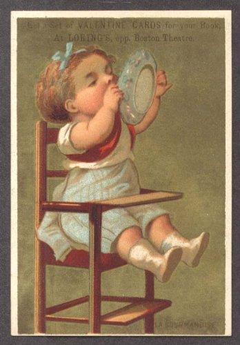 Loring's Boston baby high chair lick dish trade (Boston High Chair)