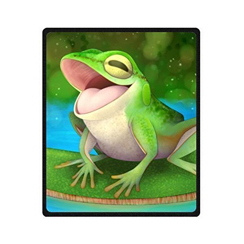 Frog Fleece - Recommend Discount The Happiest Frog Lotus Leaf Blankets Throws 50 x 60 Inch ( Medium)