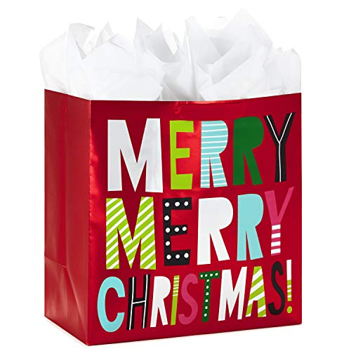 (Hallmark Extra Large Christmas Gift Bag with Tissue Paper (Merry)