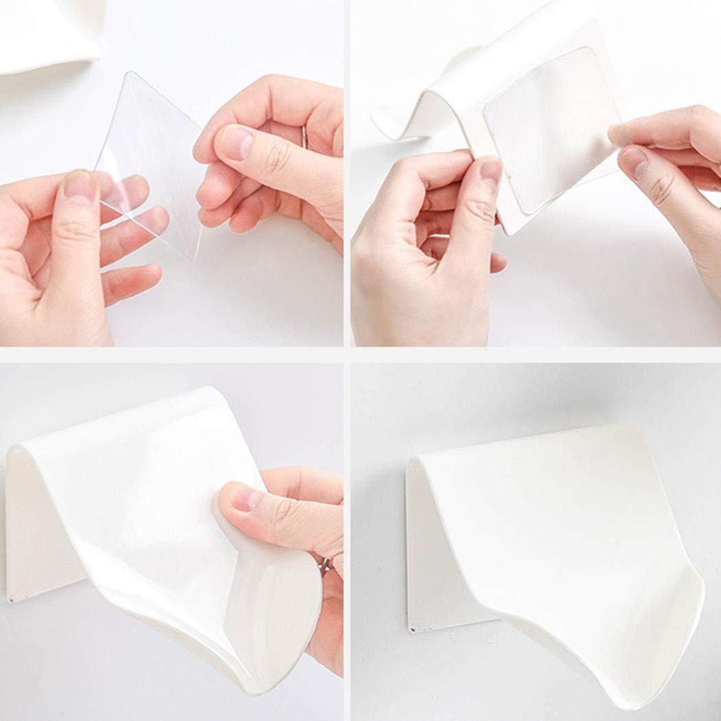 Borisdar Plastic Drain Soap Box Holder Bathroom Wall-Mounted Soap Dish,Size 4.3x3.5x3.1inch Soap Dishes