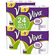 VIVA Choose-A-Sheet* Paper Towels, 24 Big Plus Rolls, White