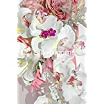 Pink-Cascading-Bouquet-Baby-Pink-Roses-White-Orchids-Lilies