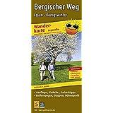 Bergischer Weg, Essen - Königswinter: Leporello Wanderkarte mit Ausflugs-, Einkehr- & Freizeittipps, Entfernungen, Etappen, Höhenprofil, wetterfest. GPS-genau. (Leporello Wanderkarte/LEP-WK)