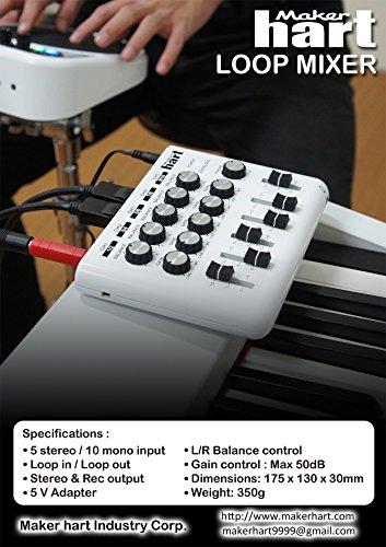 Maker Hart LOOP MIXER - Portable Audio Mixer with 5 Channels, 5 x 1