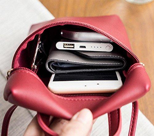 crossbody H L 5 monete borsa femminile di multiuso cm borsa design cm unico rosso moda stile borsa 13 L blu 18 telefono borsa borsa Oliviavan cm gwUfECxTWq