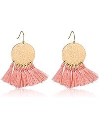 Stamping Tassel Earrings Bohemian Tassle Drop earrings Hanging Fashion Jewelry For Women