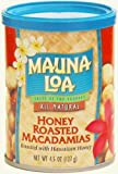 Mauna Loa Honey Roasted Macadamia Nuts, 4.5-Ounce Resealable Canisters (Pack of 24)