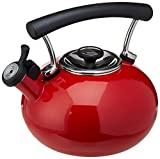 Circulon Contempo 2-Qt. Enamel Whistling Teakettle, Red