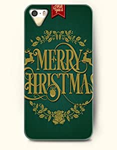 OOFIT Phone Case design with Wreath and Bells - Merry Christmas for Apple iphone 5 5s 5g