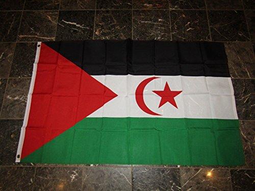 3X5 Western Sahara Flag 3'X5' Banner Brass (Sahara Mini Set)