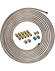 Copper-Nickel Brake Line Tubing Coil and Fitting Kit, 1/4 x 25