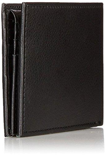 Alpine Swiss Mens Deluxe Wallet Genuine Leather 14 Pocket 1 Bill Section Black