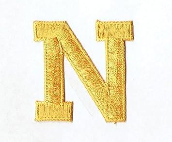 Amazon Com Alphabet Letter N Color Yellow 2 Block Style