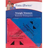 Dritz Fons and Porter Triangle Trimmers, 1/2-Square Inch by 1/4-Square Inch, 2 Count