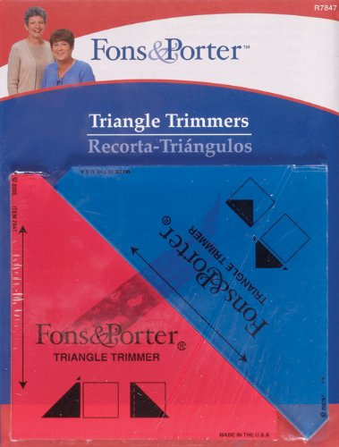 0.25 Trimmer (Fons & Porter R7847 Triangle Trimmers, 1/2-Square Inch by 1/4-Square Inch, 2 Count)