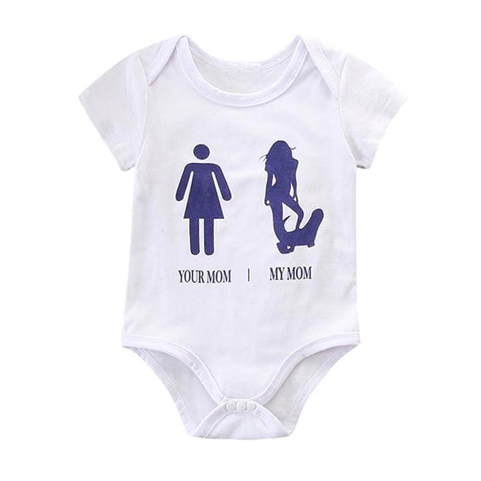 Bebé Mono, Shop Recién Nacido Bebé Baratas Mono Niña Your Mom MY Mom Estampado Romper