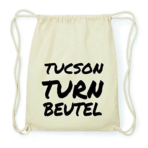 JOllify TUCSON Hipster Turnbeutel Tasche Rucksack aus Baumwolle - Farbe: natur Design: Turnbeutel