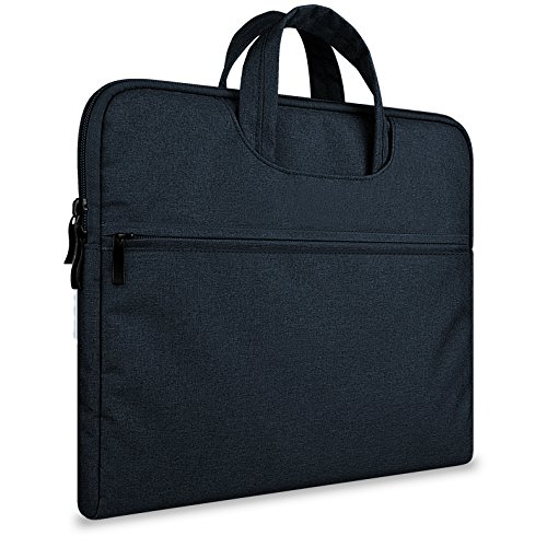 13 inch Sleeve Bag,MeiLiio Polyester Fabric Laptop Protective Briefcase Case Sleeve Bag for Apple MacBook Air/MacBook Pro 13'' or 13.3'' HP Dell and Other Brands 13-13 Inch Laptop-Black