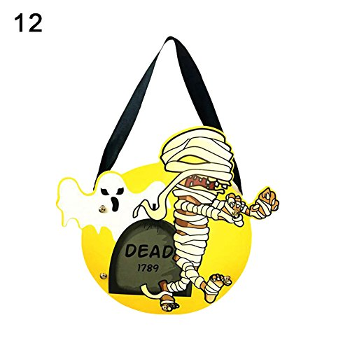 Kids Handwork DIY Halloween Cartoon Ghost Castle Pumpkin Gift Candy Bag Handbag 12 -
