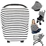 Nursing Breastfeeding Cover Scarf - Baby Car Seat Canopy, Shopping Cart, Stroller, Carseat Covers Best Baby Shower Gift for Girls and Boys - Multi-Use Infinity Stretchy Shawl (Color-3)