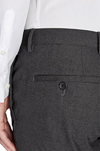 next Homme Pantalon sans pinces Gris Anthracite Élastique 36 / Regular - Slim Fit