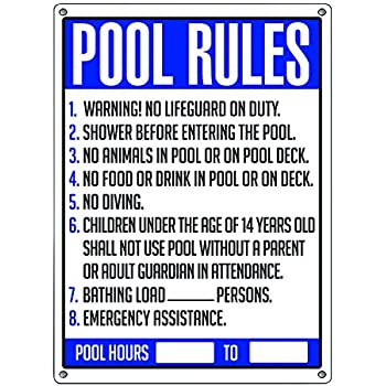 Poolmaster Sign For Residential Or Commercial Swimming Pools General Commercial