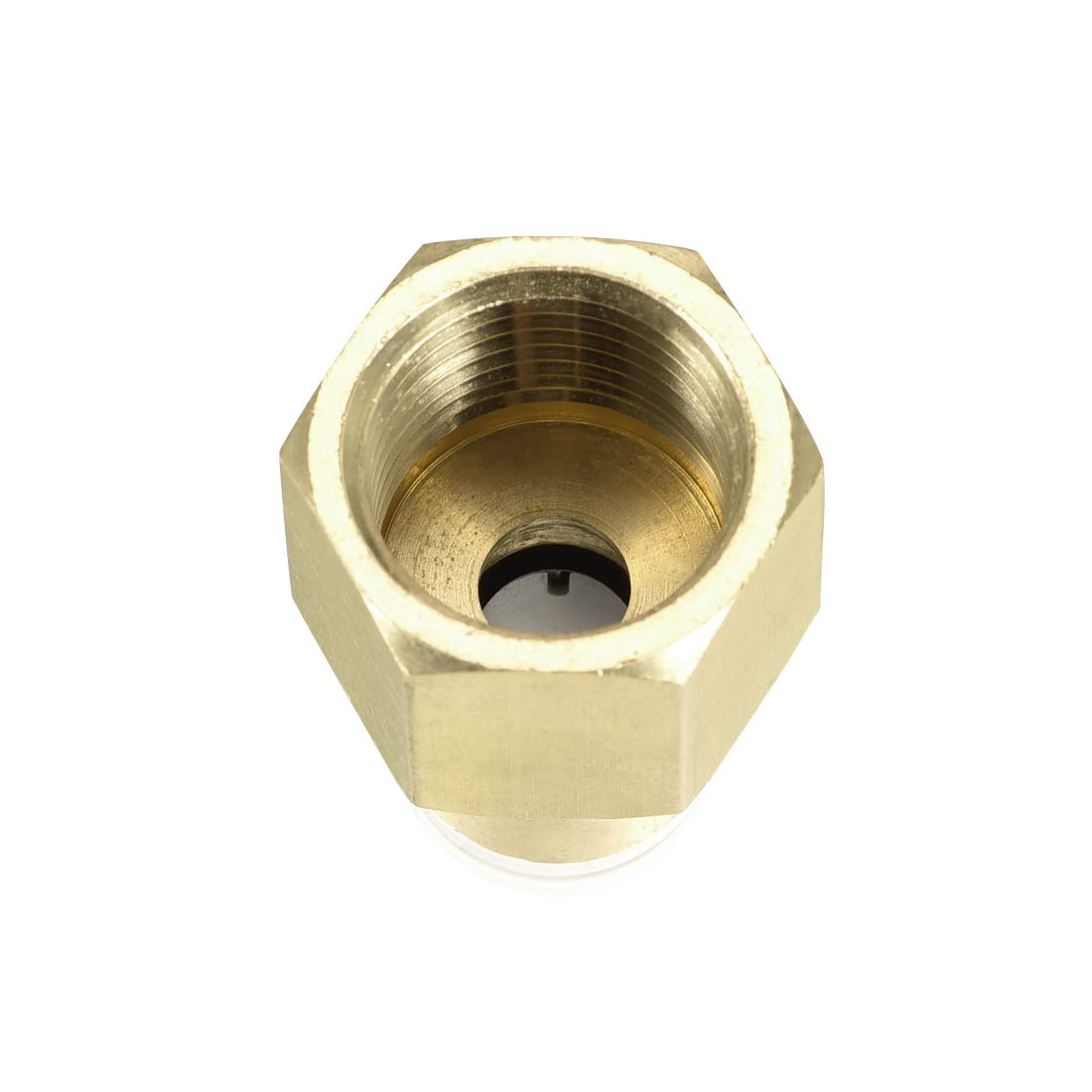 uxcell Push to Connect Tube Fittings 10mm Tube OD x 1//2 PT Female Straight Pneumatic Connecter Pipe Fitting Golden Tone 2Pcs