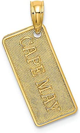 Finejewelers 14k Yellow Gold Small Cape May License Plate Charm