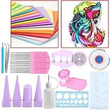 11 In 1 Paper Quilling Tools Kit DIY Paper Craft Crimper Comb Ruler Pins Border Buddy Set