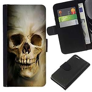 All Phone Most Case / Oferta Especial Cáscara Funda de cuero Monedero Cubierta de proteccion Caso / Wallet Case for Apple Iphone 5C // Evil Goth Skull
