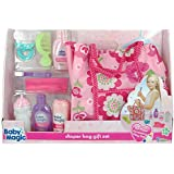 Baby Magic Doll Diaper Bag Gift Set - 10 Piece Accessory Play Set
