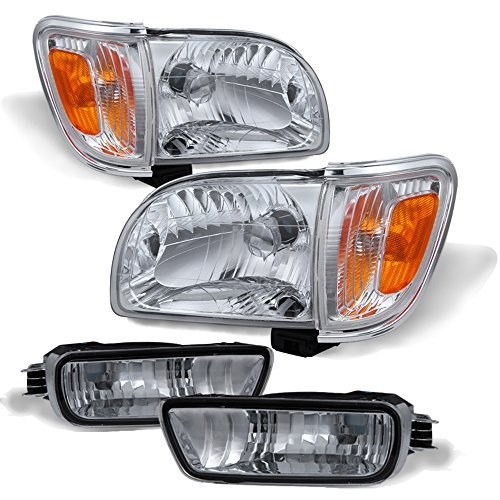 ACANII - For 2001-2004 Toyota Tacoma Headlights+Corner Parking Signal Lights+Bumper Lamps Driver + Passenger Side