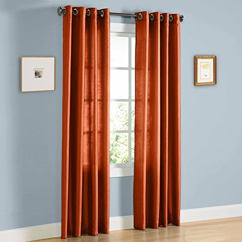 Gorgeous Home (MIRA)2 PANELS SOLID GROMMET FAUX SILK WINDOW CURTAIN DRAPES TREATMENT IN 63