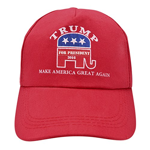 Wild Wind (TM) Trump Make America Great Again Red Cap Flag For President Hat