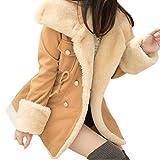 Outerwear,Kstare Winter Warm Double-Breasted Wool Blend...
