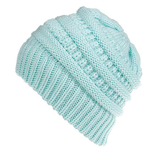 CHIDY Men Women Cute Trend Solid Color Warm Cap Wool Knit Ski Beanie Skull Slouchy Hat Unisex -