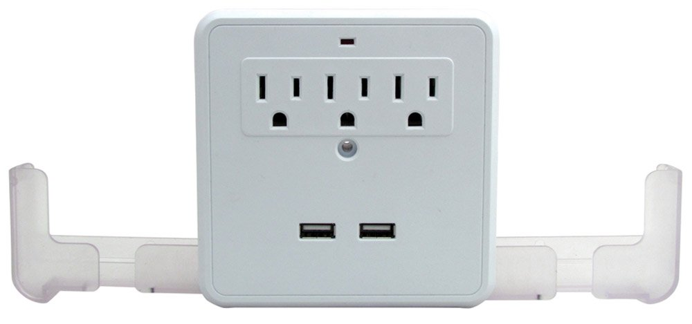 Perfect Life Ideas Ac Usb Wall Outlet Surge Protector Power Strip Outlet Mult.. 8
